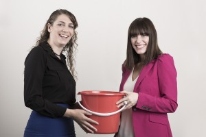 Laura & Bryony with bucket
